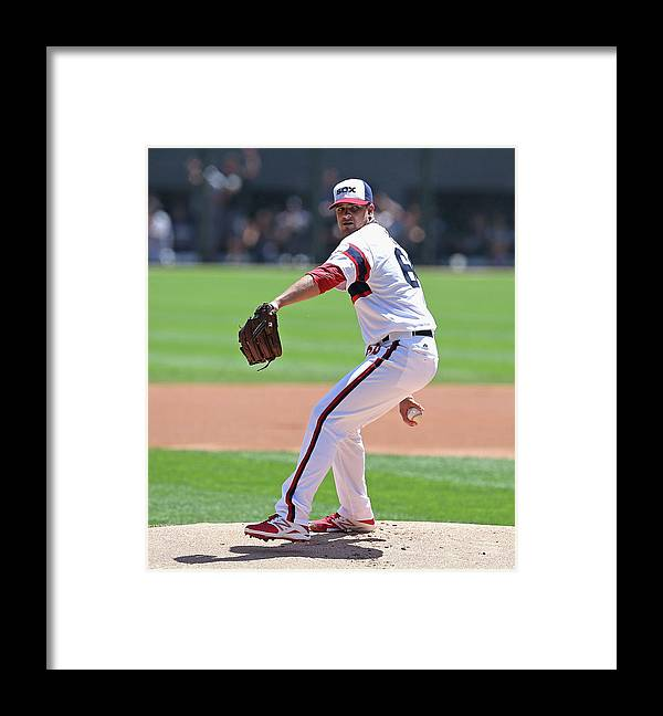 American League Baseball Framed Print featuring the photograph New York Yankees V Chicago White Sox by Jonathan Daniel