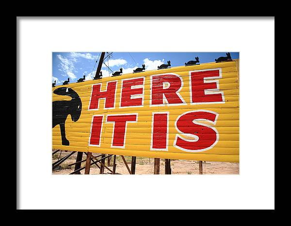 66 Framed Print featuring the photograph Route 66 - Jack Rabbit Trading Post by Frank Romeo
