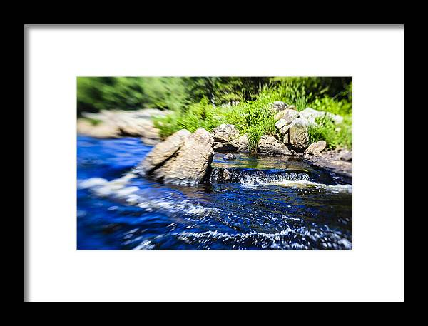 Water Framed Print featuring the photograph The Stream In Mountain by Alex Potemkin