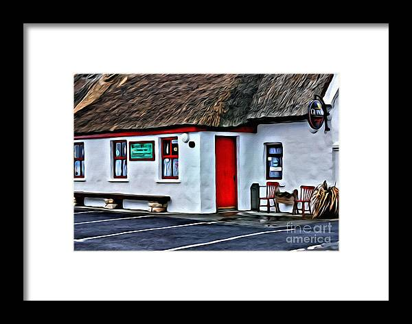 Red Door Framed Print featuring the photograph 9175 by Charles Cunningham