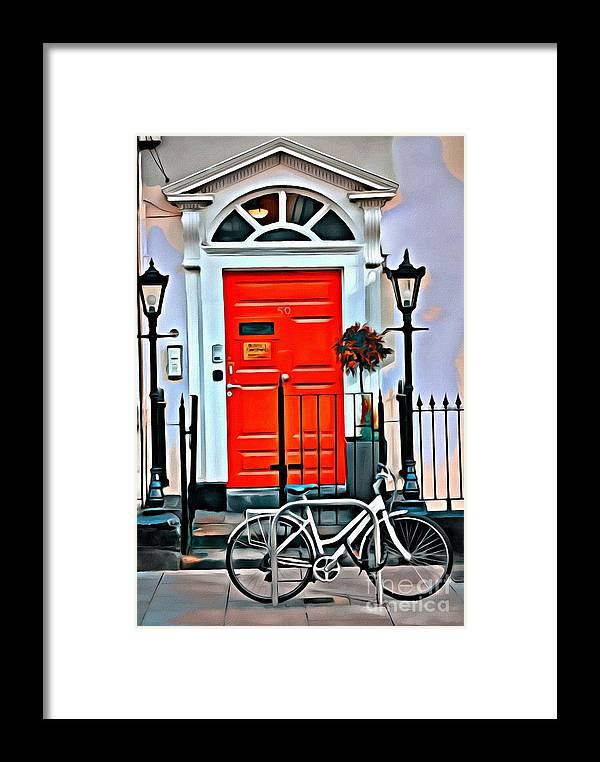Door Framed Print featuring the photograph 9178 by Charles Cunningham
