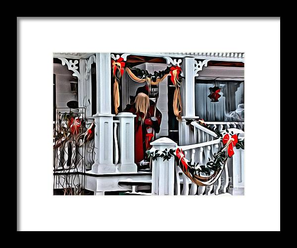 Santa Claus Framed Print featuring the photograph 9232 by Charles Cunningham