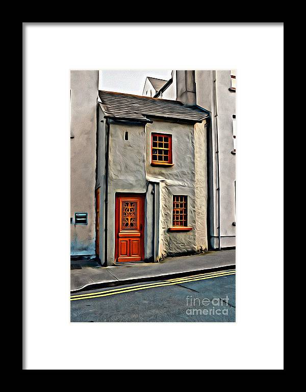 Red Door Framed Print featuring the photograph 9298 by Charles Cunningham