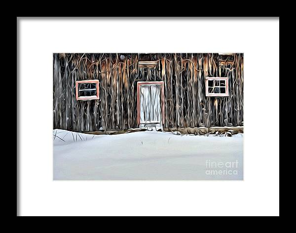 Barn Framed Print featuring the photograph 9318 by Charles Cunningham