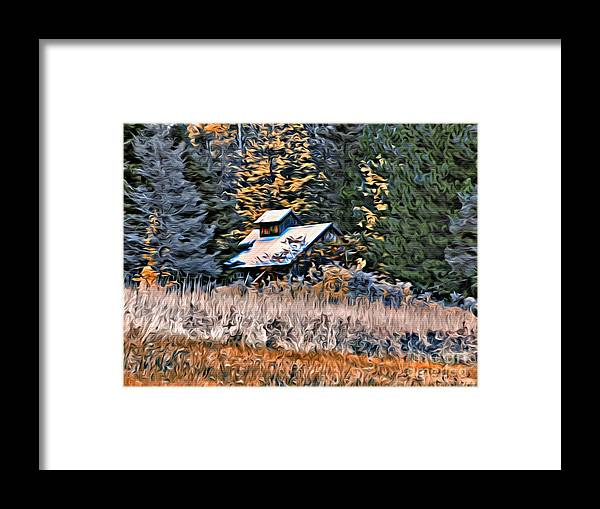Sugar Shack Framed Print featuring the photograph 9377 by Charles Cunningham