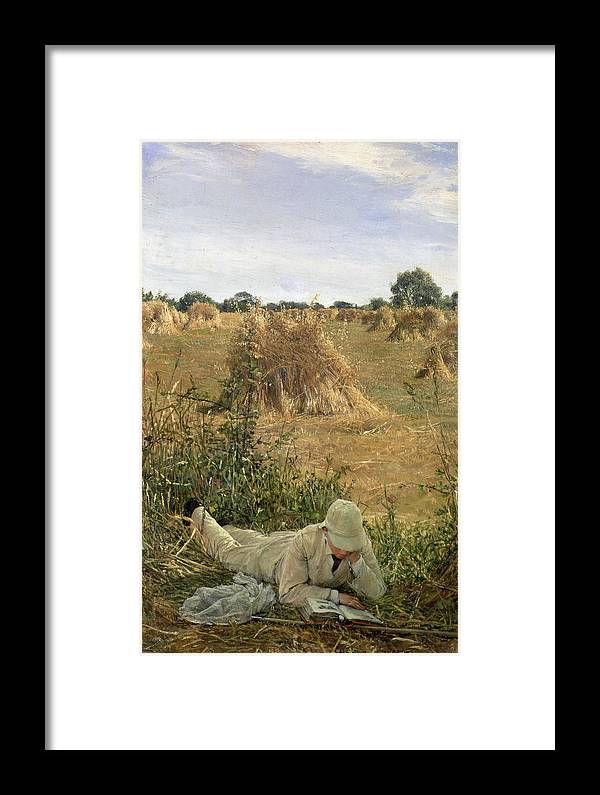 Sheaf Framed Print featuring the painting 94 Degrees In The Shade, 1876 94 by Sir Lawrence Alma-Tadema