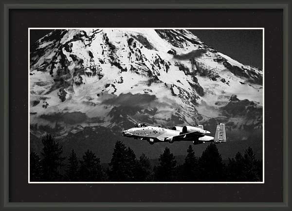 A-10 Over Mt. Rainier by Chris McKenna