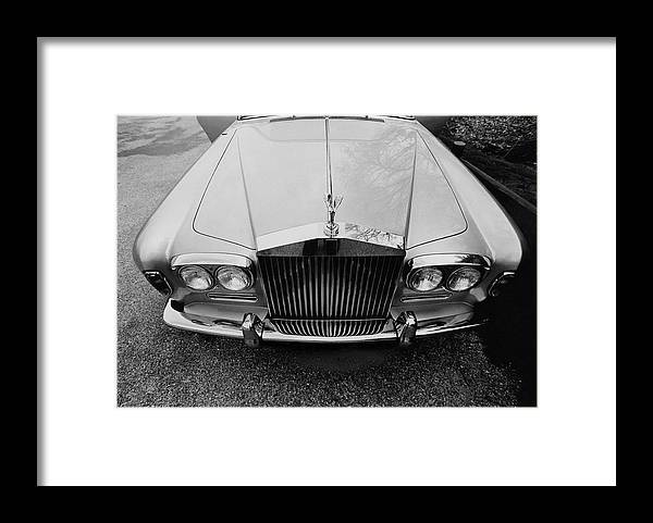 Auto Framed Print featuring the photograph A 1974 Rolls Royce by Peter Levy