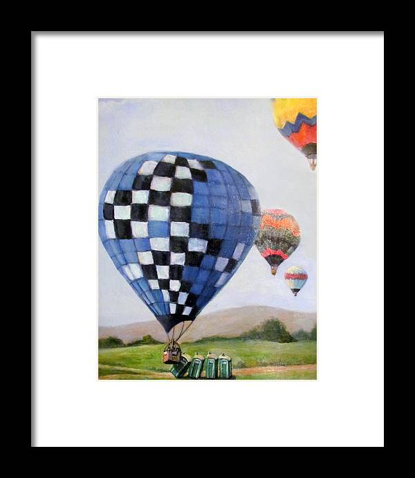 Balloon Disaster Framed Print featuring the painting A Balloon Disaster by Donna Tucker