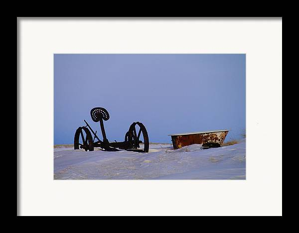 Morning Framed Print featuring the photograph A Bath After Harvest by Jeff Swan