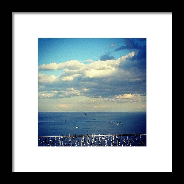 Harbor Framed Print featuring the photograph A Beautiful Day by Jill Tuinier