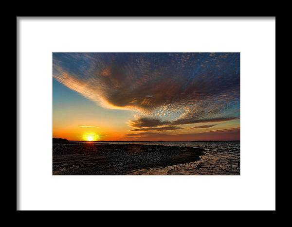 Sunset Framed Print featuring the photograph A Beautiful Night In February by Carolyn Fletcher