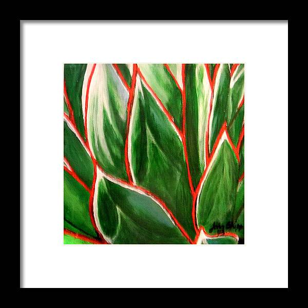 Agave Framed Print featuring the painting A. 'blue Glow' by John Shipp