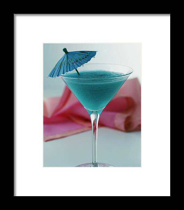 Beverage Framed Print featuring the photograph A Blue Hawaiian Cocktail by Romulo Yanes