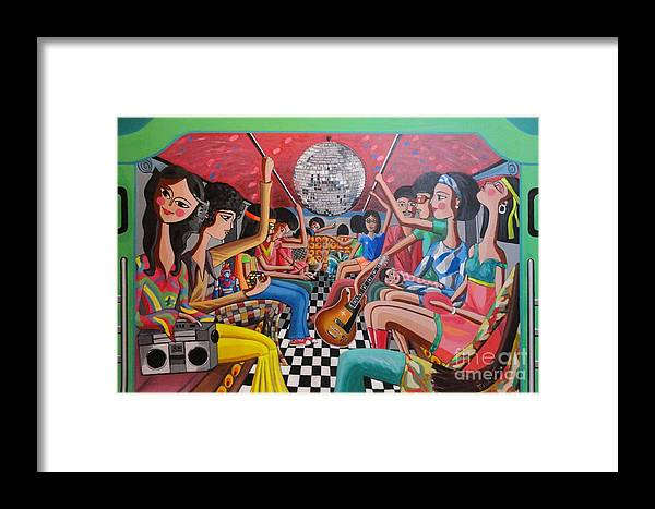 Boogie Framed Print featuring the painting A Boogie Jeepney Ride by Ferdz Manaco