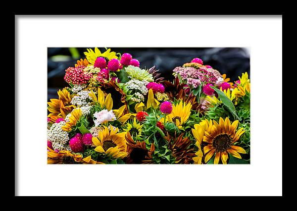 Flower Framed Print featuring the photograph A Bouquet Of Flowers by Michael Moriarty