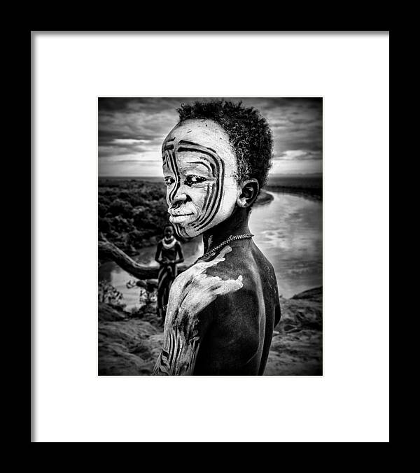 Boy Framed Print featuring the photograph A Boy Of The Karo Tribe. Omo Valley (ethiopia). by Joxe Inazio Kuesta