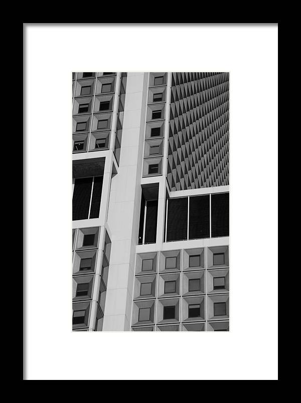 Scenic Framed Print featuring the photograph A Break In The Glass In Black And White by Rob Hans