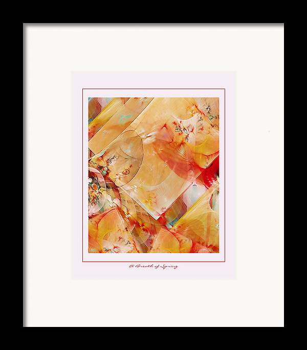 Fractal Framed Print featuring the digital art A Breath Of Spring by Gayle Odsather