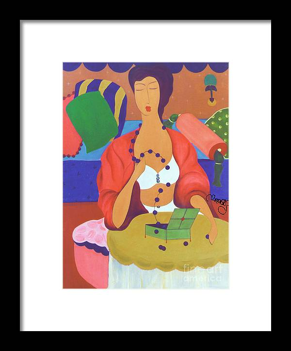 #female Framed Print featuring the painting A Broken Promise by Jacquelinemari