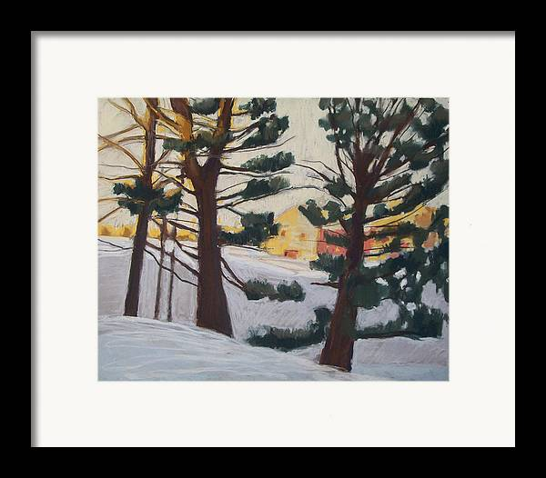 Maine Framed Print featuring the pastel A Certain Slant Of Light by Grace Keown