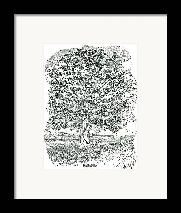 Landscape Framed Print featuring the drawing A Change Of Seasons by Glenn McCarthy Art and Photography