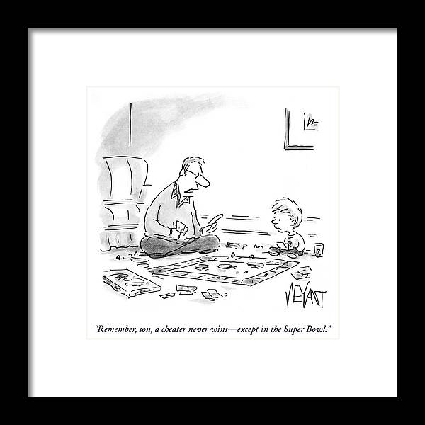 Remember Framed Print featuring the drawing A Cheater Never Wins by Christopher Weyant