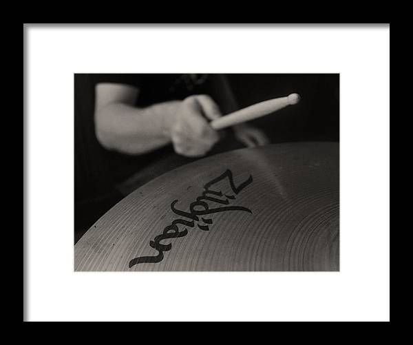 Zildjian Framed Print featuring the photograph A Cherished National Cymbal by Everett Bowers