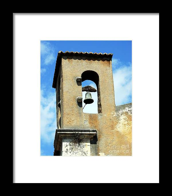 A Church Bell In The Sky Framed Print featuring the photograph A Church Bell In The Sky 3 by Mel Steinhauer