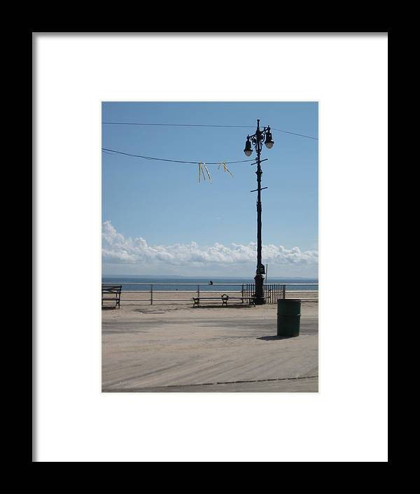 Boardwalk Framed Print featuring the photograph A Clear Cool Spring Morning By The Shore by Yaleleibo
