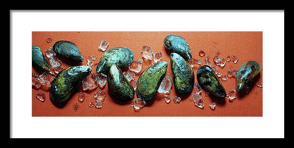 Cooking Framed Print featuring the photograph A Cluster Of Mussels by Romulo Yanes