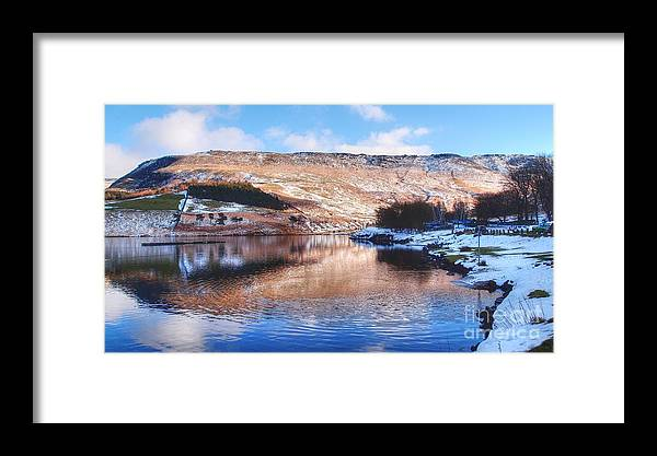 Landscape Framed Print featuring the photograph A Cold Place So Lovely by Wobblymol Davis