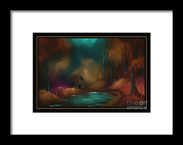 Woods Framed Print featuring the painting A Colorful Walk by Steven Lebron Langston