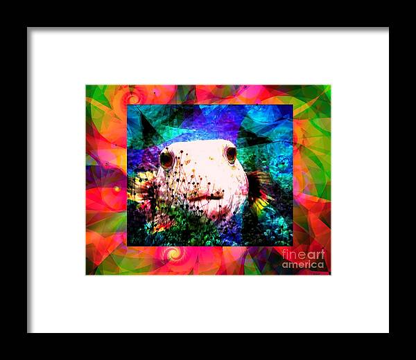 Fractal Art Framed Print featuring the digital art A Curious Fellow by Elizabeth McTaggart