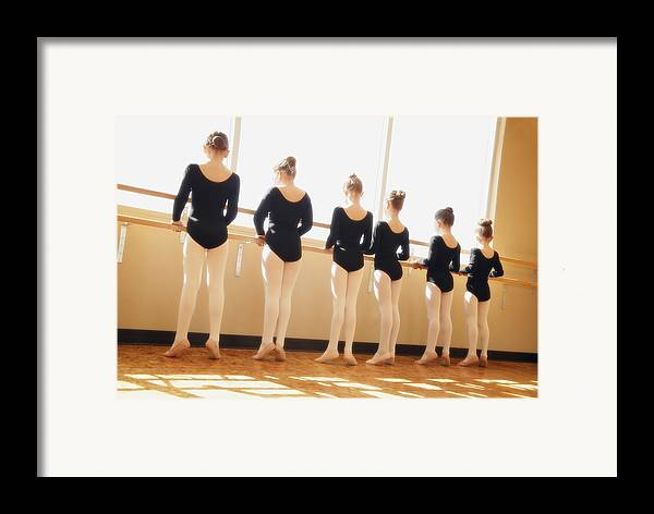Group Framed Print featuring the photograph A Dance Class by Don Hammond