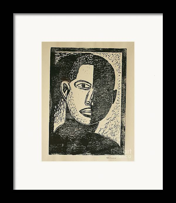 Lino Cut Framed Print featuring the mixed media A Dark Side by Christiane Schulze Art And Photography