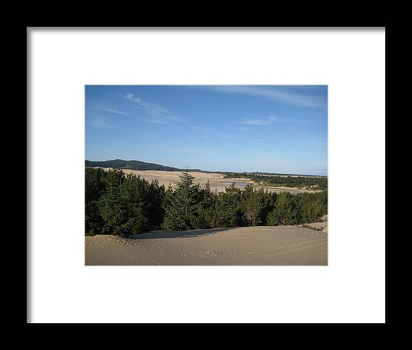 Blue Sky Framed Print featuring the photograph A Day On The Dunes by Kathy Raee Hansen