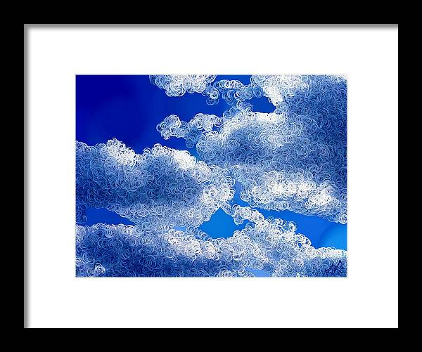 Clouds Framed Print featuring the painting A Different Dimension by Bruce Nutting