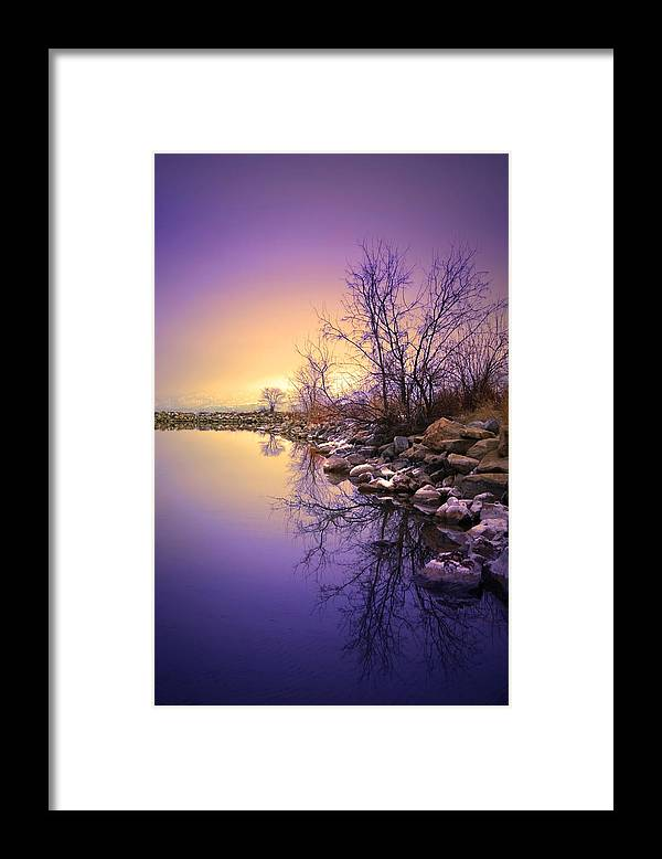 Winter Framed Print featuring the photograph A Distant Glow by Tara Turner