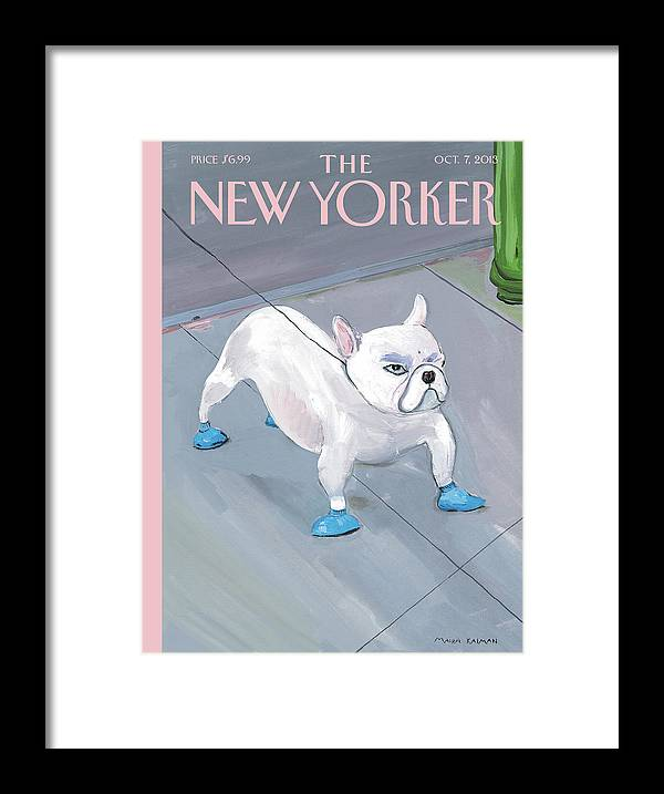 Dog Framed Print featuring the painting Blue Dog by Maira Kalman