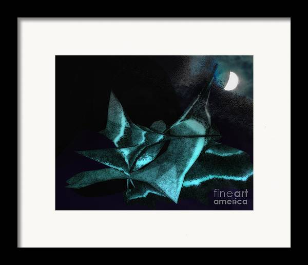 Abstract Framed Print featuring the photograph A Dream - Flying To The Moon by Gerlinde Keating - Galleria GK Keating Associates Inc