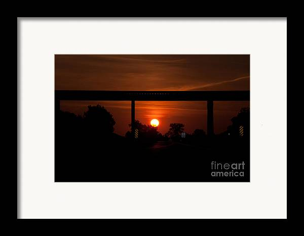 Rail Framed Print featuring the photograph A Driver's View by Minnie Lippiatt