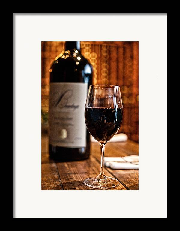 Food Framed Print featuring the photograph A Fine Red by Shanna Gillette