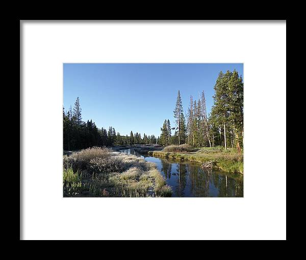 Blue Framed Print featuring the photograph A Frosty Morning Along Obsidian Creek by Frank Madia