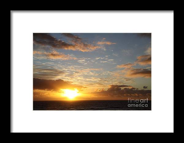 Sunrise Framed Print featuring the photograph A Golden Sunrise - Singer Island by Christiane Schulze Art And Photography
