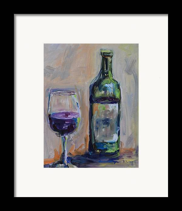 Wine Framed Print featuring the painting A Good Pour by Donna Tuten