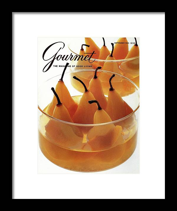 Food Framed Print featuring the photograph A Gourmet Cover Of Baked Pears by Romulo Yanes