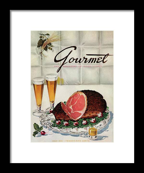 Illustration Framed Print featuring the photograph A Gourmet Cover Of Ham by Henry Stahlhut