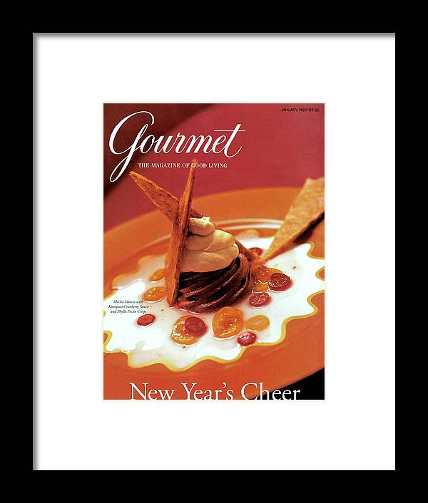Food Framed Print featuring the photograph A Gourmet Cover Of Moch Mousse by Romulo Yanes
