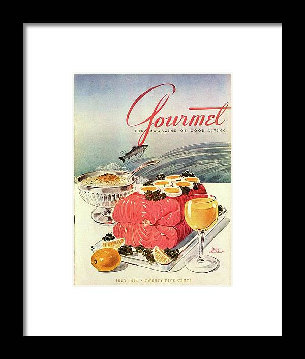 Food Framed Print featuring the photograph A Gourmet Cover Of Poached Salmon by Henry Stahlhut
